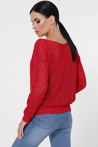 """Красный женский свитер """"DAILY"""", фото 2"""
