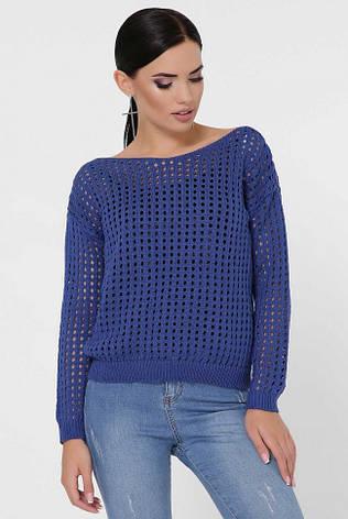 """Синій жіночий светр """"DAILY"""", фото 2"""