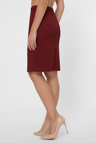 Бордовая юбка на резинке, фото 2