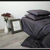 Постельное белье Сатин Страйп-сатин GRAPHITE  ТМ Царский дом  (Евро макси)