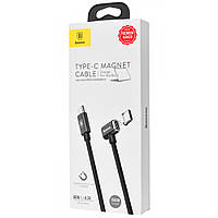 Дата кабель Baseus Magnet USB to Type-C For Charge MacBook 86W 4.3A (1.5m) (black) 714465