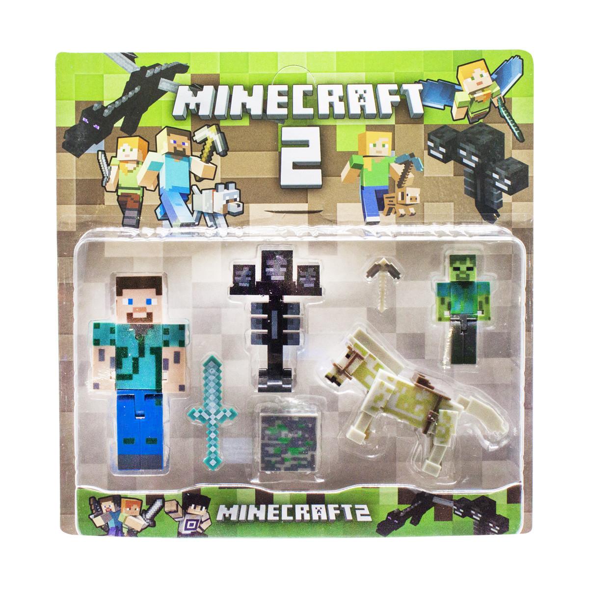 """Набор героев """"Майнкрафт 2: Стив и лошадь""""- Minecraft 2"""