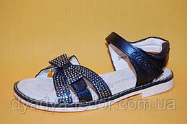 Дитячі Босоніжки Clibee Польща Z608 Для дівчаток Синій розміри 31_36
