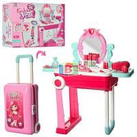 Детское трюмо чемодан. Звуковые и световые эффекты. Материал: пластик. 008-923