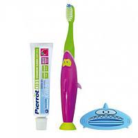 Зубной набор для детей Акула FUSHIMA Pierrot Sharky Dental Kit