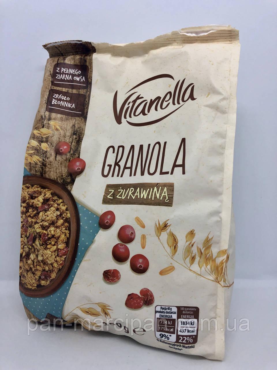 Мюслі Granola Vitanella (з журавлиною) Польща 350г