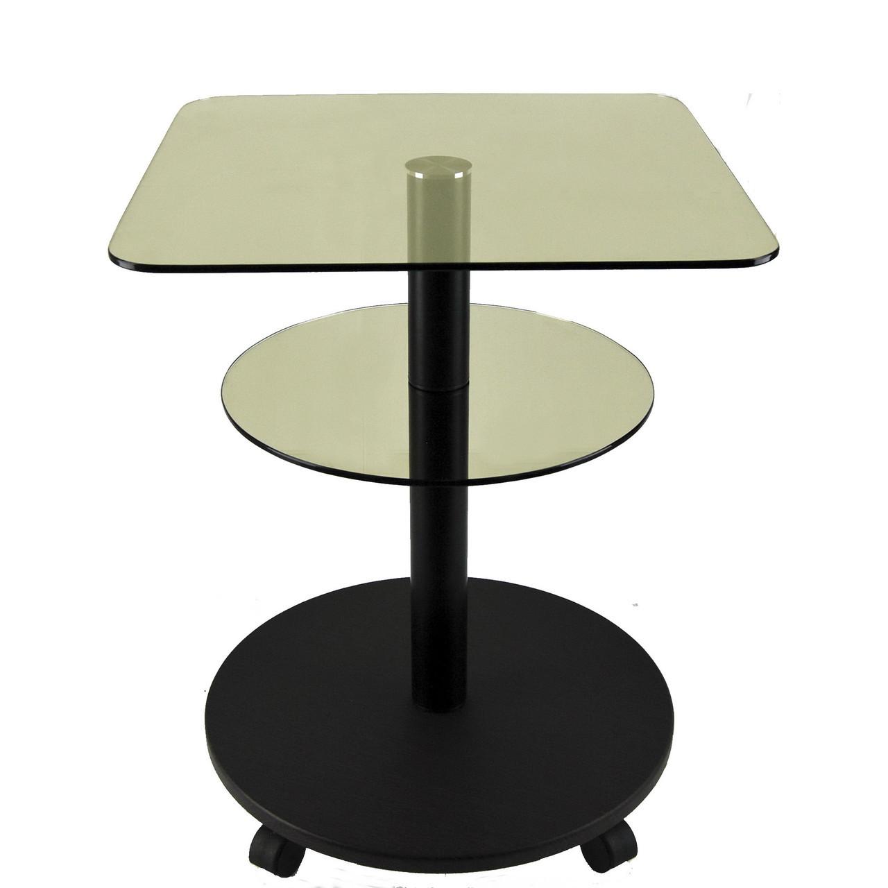 Стол журнальный стеклянный квадратный Commus Bravo Light450 Kv6 gold-venge-bl50
