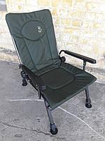 Кресло Для Рыбалки Складное Elektrostatyk F5R P С Подлокотниками И Регулируемой Спинкой (До 110 кг) Зеленое
