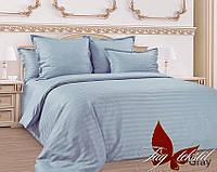 Двуспальный комплект постельного белья Страйп-сатин Graphite