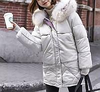 Куртка пуховик зимняя женская (белая)