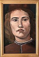 "Картина маслом на холсте ""Портрет Боттичелли"" 20х30 см"