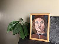 """Картина маслом на холсте """"Портрет Боттичелли"""""""