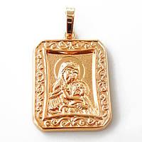 Иконка Xuping Дева Мария  золото 18К длина 3.7см л130