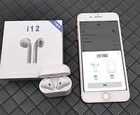 Беспроводные сенсорные Bluetooth наушники I12 TWS, фото 1