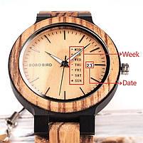 Часы мужские Bobo Bird деревянные, фото 5