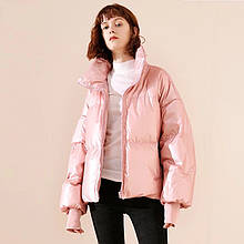 Куртка женская розовый металлик