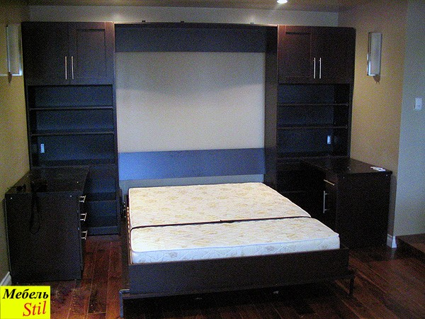 Шкаф-кровать с письменными столами, фото 1