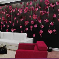 Фотообои, цветы, малиновый, орхидеи, ПРЕСТИЖ №21 408смХ196см
