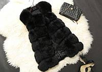 Женская меховая жилетка чёрная из искусственного меха Купить недорого в интернет-магазине Украина!