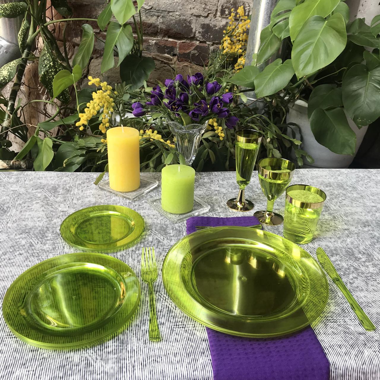 Пластиковая посуда красивая  стеклопластик  для праздника, банкета, фуршета  84 шт 6 чел Capital For People