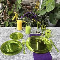 Набор одноразовой посуды стеклопластик  для праздника  84 шт 6 чел Capital For People, фото 1