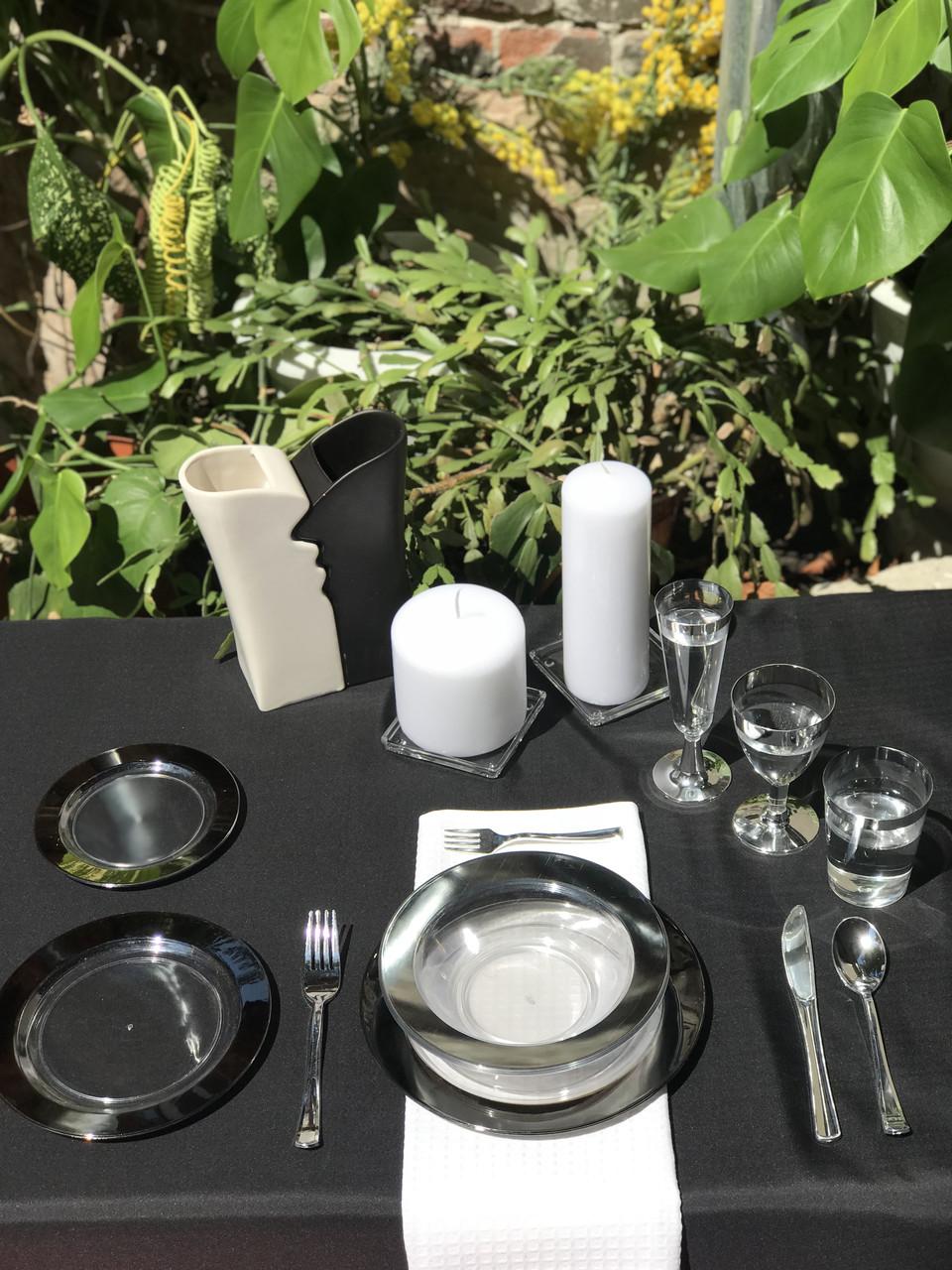 Одноразовая посуда стеклопластик красивая термостойкая плотная 102 шт 6 чел Capital For People