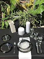 Одноразовая посуда стеклопластик красивая термостойкая плотная 102 шт 6 чел Capital For People, фото 1