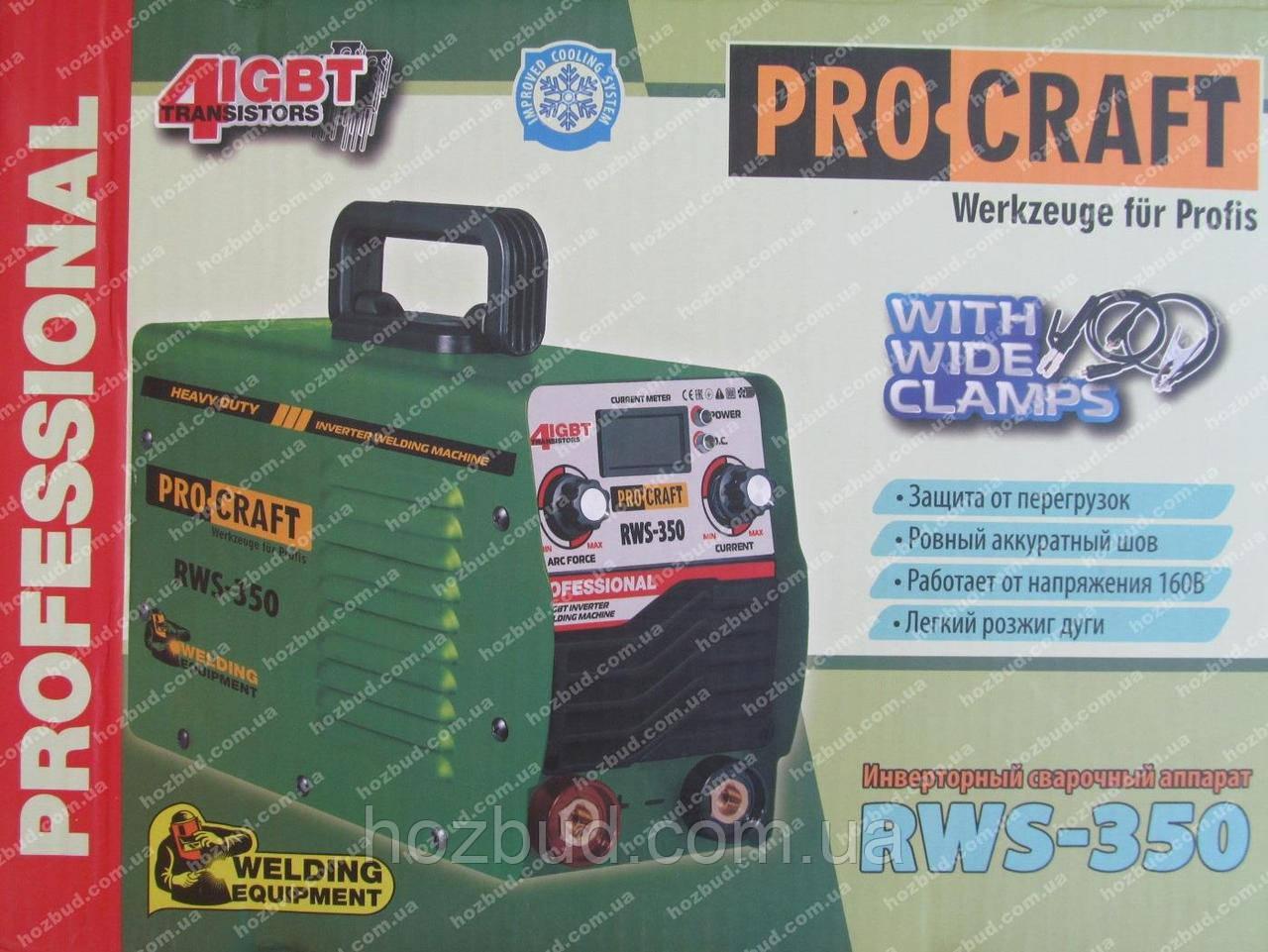 Сварочный инвертор Procraft RWS-350 (форсаж дуги)