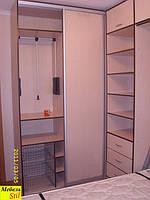 Откидная шкаф-кровать со шкафом-купе и компьютерным столом, фото 1