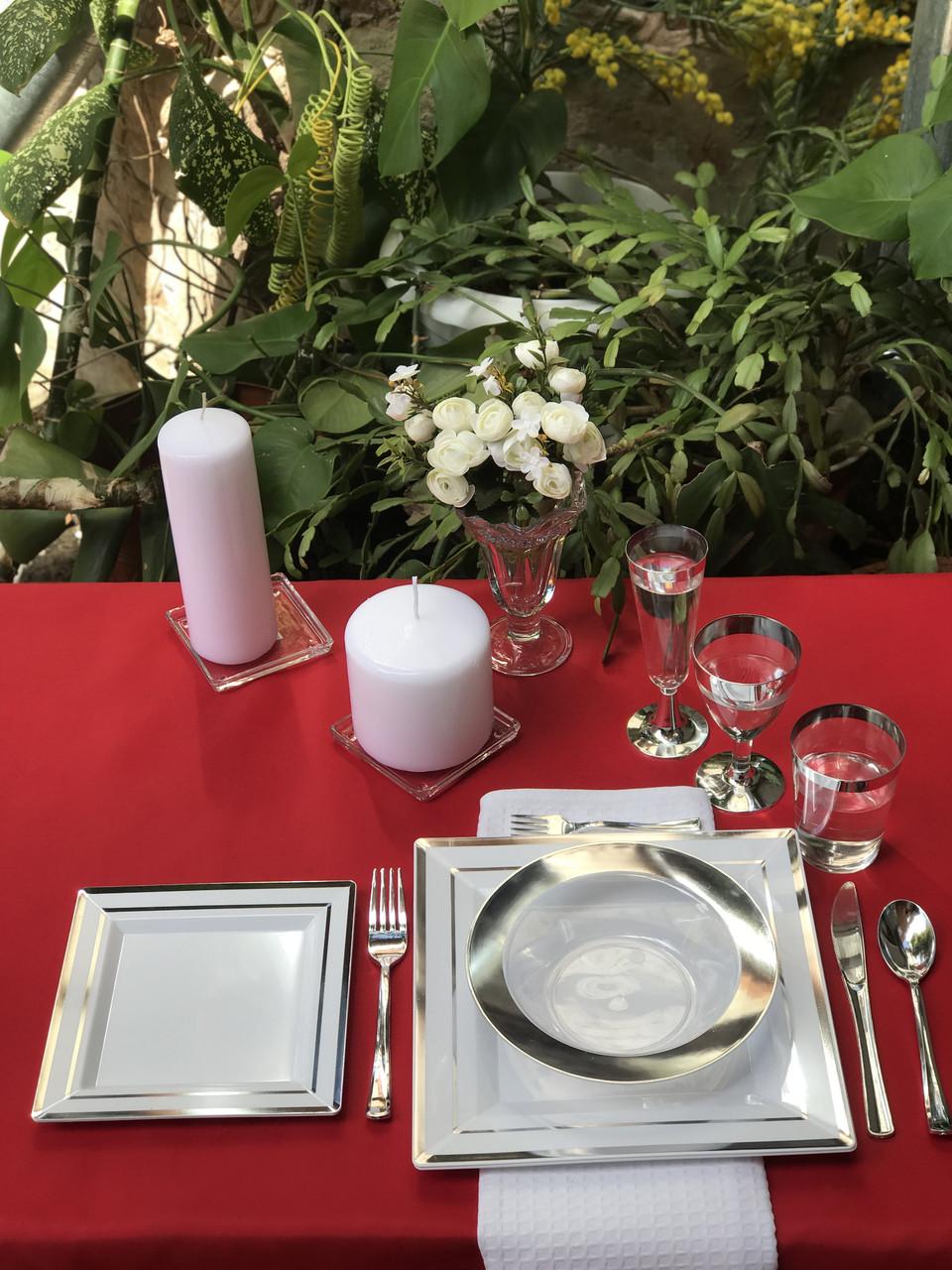 Одноразовая пластиковая посуды премиум термостойкая 96 шт 6 чел. Capital For People