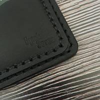 Черный мужской кошелек ручной роботы от BlackSeven, фото 6