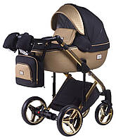 Детская коляска универсальная 2 в 1 Adamex Luciano Polar (Gold) Y828 (Адамекс Лусиано, Польша)