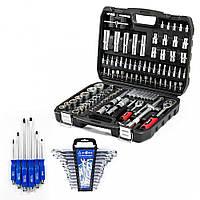 Набор инструментов 108 ед. Profline 61085 + Набор ударных отверток Profline 6 ед. + Набор ключей 12 ед.