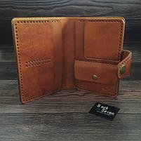 Коричневое мужское портмоне для документов ручной работы, фото 6