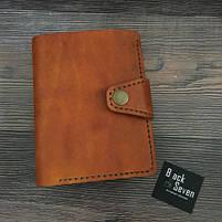 Коричневое мужское портмоне для документов ручной работы, фото 7