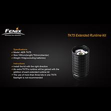 Секция корпуса с батарейной кассетой для фонарей Fenix ТК61, ТК75 и ТК76, фото 3