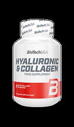 Гиалуроновая кислота + коллаген BioTech USA HYALURONIC & COLLAGEN 30caps