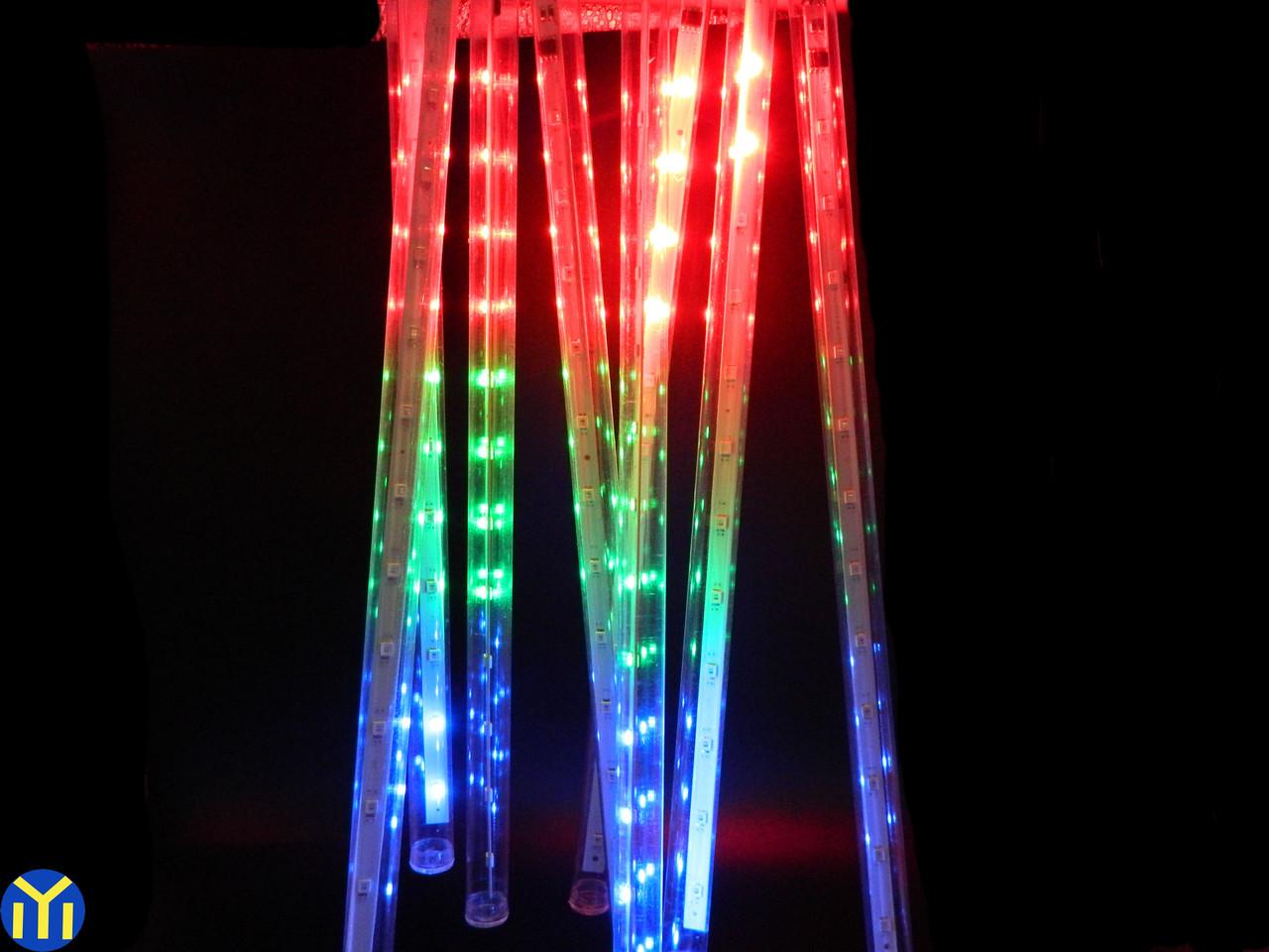 Гирлянда Сосулька светодиодная. 8 трубок, 30 см., Мульти