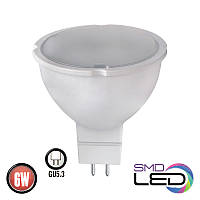 Светодиодная лампа 6W 3000K GU5.3 Horoz