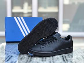 Кроссовки мужские Adidas Stan Smith ,черные, фото 2