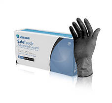 """Перчатки Medicom нитриловые """"SafeTouch Black"""" (XS)"""