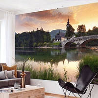 Фотообои, природа, озеро, мост,  ПРЕСТИЖ №29 размер 272смХ196см