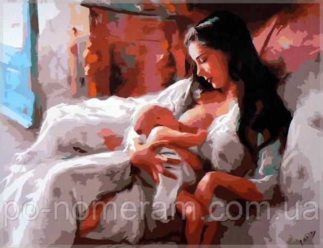 картины по номерам в детскую мама с ребенком