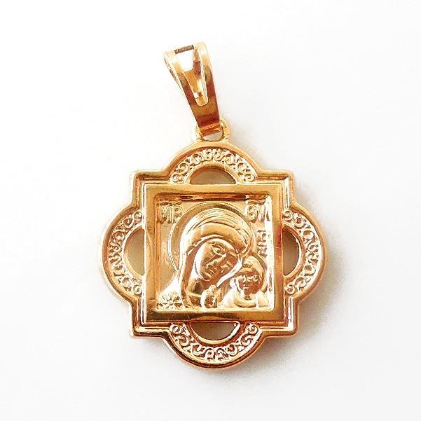 Иконка Xuping Божья матерь с младенцем позолота 18К длина 2.9см л182