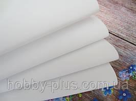 Шелковый фоамиран, БЕЛЫЙ, 0,6-0,8 мм, 46х46 см, Китай
