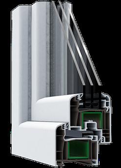 Металлопластиковое окно из европейского профиля Steko Reiner R500