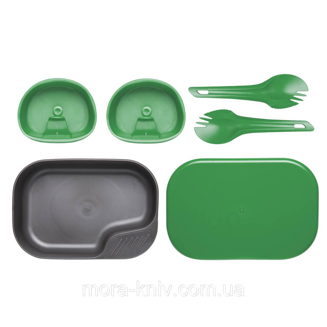 Набор посуды Wildo® CAMP-A-BOX® DUO Light Green - Sugarcane (ID 6201) темно зеленый