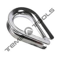 Коуш сталевий для каната 8 мм DIN 6899B