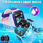 Детские Смарт Часы T18 GPS Цвет Розово-фиолетовый (гарантия 6 мес.) + Подарок сквиш, фото 5