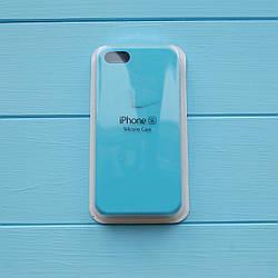 Накладка оригинальная Apple Silicone Case для iPhone 5, 5S Sky blue